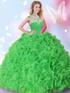 New Style Sleeveless Zipper Quinceanera Dresses Organza
