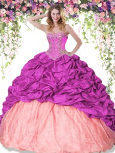 Popular Pick Ups Sweetheart Sleeveless Lace Up Sweet 16 Dress Multi-color Taffeta