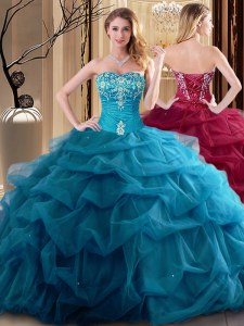 Enchanting Tulle Sleeveless Floor Length Quinceanera Dresses and Embroidery and Ruffles